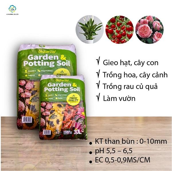 Rêu than bùn Garden & Potting Soil 30 lít được cung cấp bởi LC Global