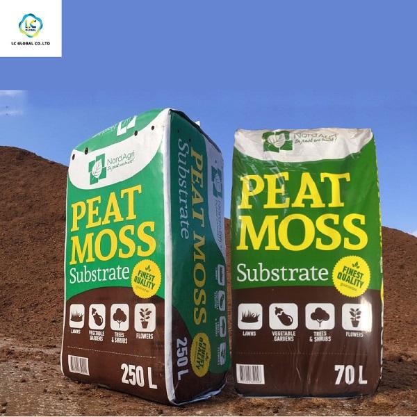 Peat moss (rêu than bùn) thể tích 70L và 250L